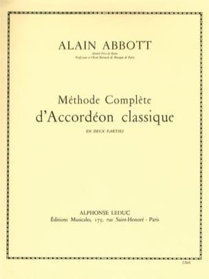 Méthode d'accordéon classique volume 2 Alain Abbott laflutedepan