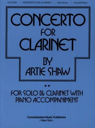 Concerto For Clarinet Artie Shaw Partition Clarinette - laflutedepan