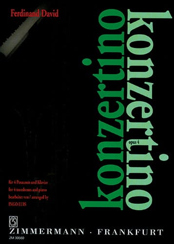 Konzertino Opus 4 - Ferdinand David - Partition - laflutedepan.com