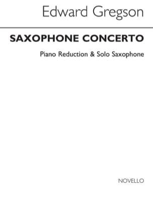 Saxophone Concerto Edward Gregson Partition Saxophone - laflutedepan