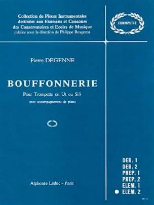 Bouffonnerie - Degenne - Partition - Trompette - laflutedepan.com