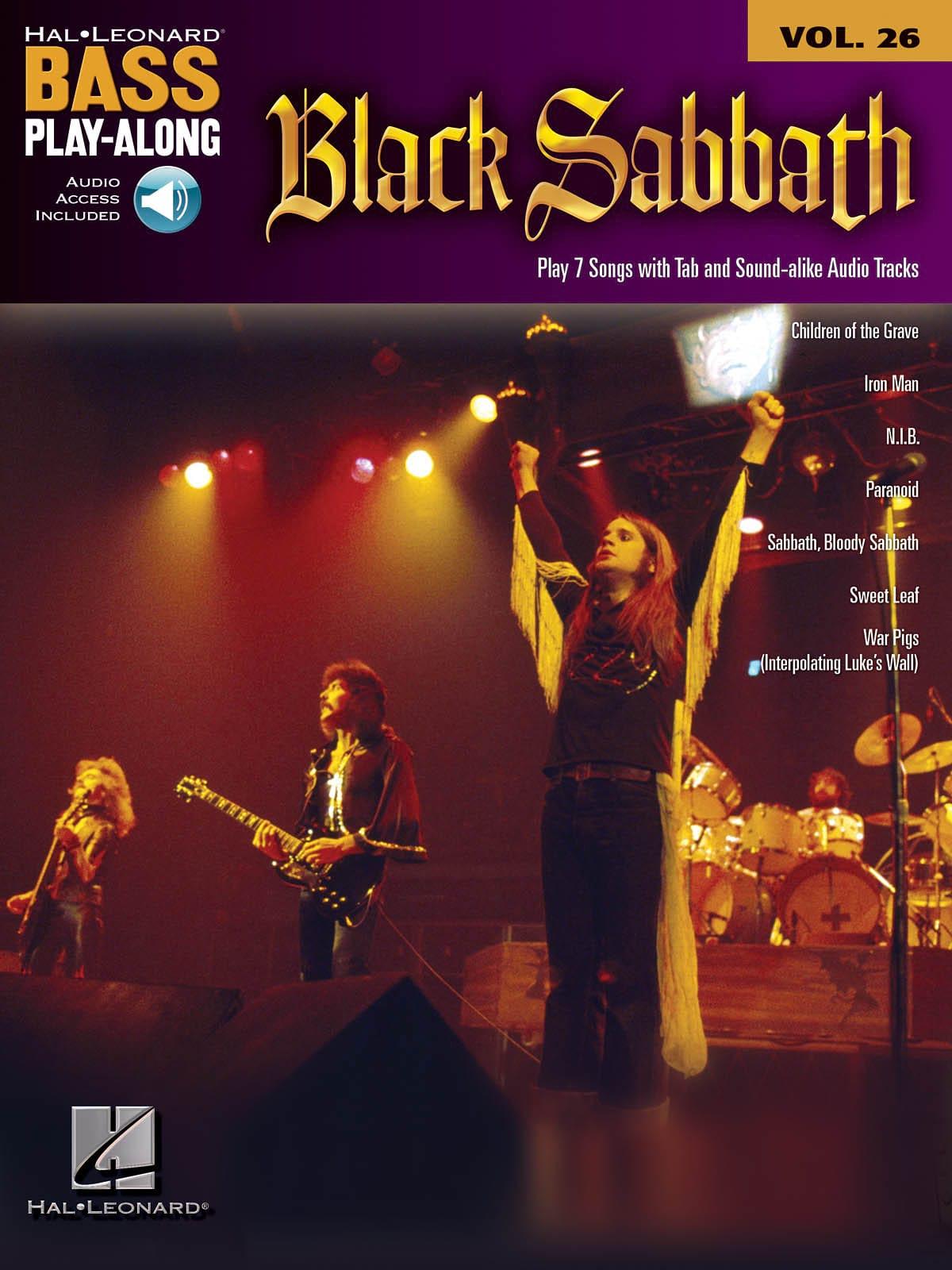 Bass Play-Along Volume 26 - Black Sabbath - laflutedepan.com
