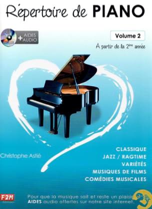 Répertoire de Piano Volume 2 Christophe Astié Partition laflutedepan