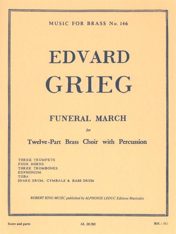 Funeral March - GRIEG - Partition - laflutedepan.com