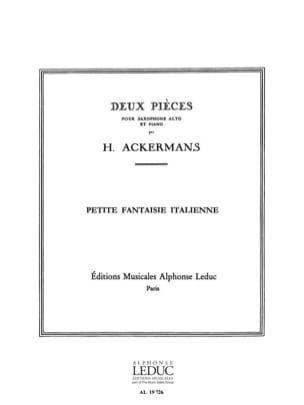 Petite Fantaisie Italienne H. Ackermans Partition laflutedepan