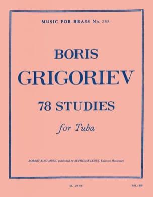 78 Studies Boris Grigoriev Partition Tuba - laflutedepan