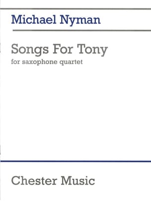 Songs For Tony Michael Nyman Partition Saxophone - laflutedepan
