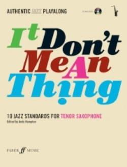 It Don't Mean A Thing Partition Saxophone - laflutedepan