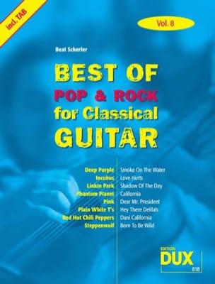 Best of pop & rock for classical guitar volume 8 laflutedepan