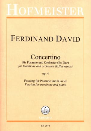 Concertino Es-Dur Opus 4 Ferdinand David Partition laflutedepan
