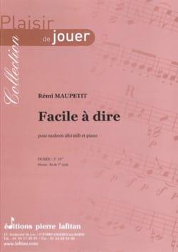Facile à dire - Rémi Maupetit - Partition - Tuba - laflutedepan.com