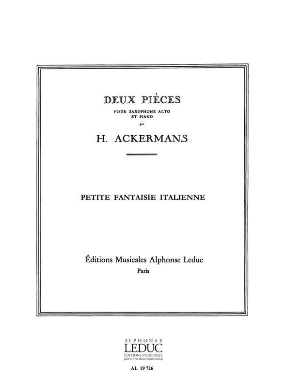 Petite Fantaisie Italienne - H. Ackermans - laflutedepan.com