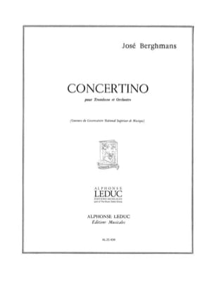 Concertino José Berghmans Partition Trombone - laflutedepan
