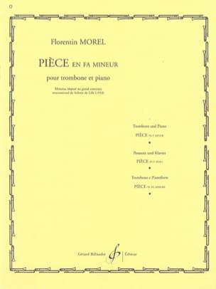 Pièce En Fa Mineur Florentin Morel Partition Trombone - laflutedepan