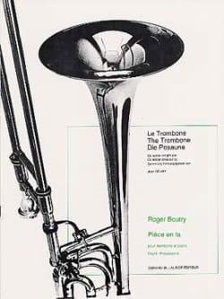 Pièce En Fa Roger Boutry Partition Trombone - laflutedepan