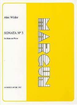 Sonata N° 3 Alec Wilder Partition Cor - laflutedepan