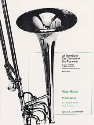 Pièce En Fa - Roger Boutry - Partition - Trombone - laflutedepan.com