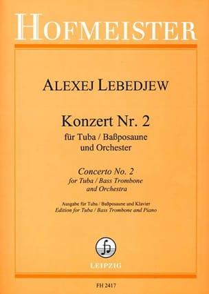 Konzert N° 2 Alexej Lebedjew Partition Tuba - laflutedepan