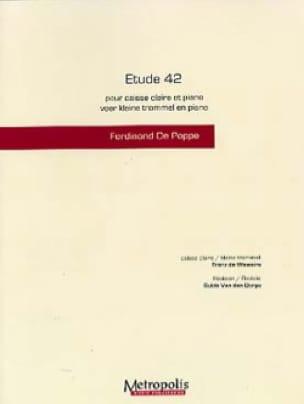 Etude 42 - Ferdinand de Poppe & Franz de Weweire - laflutedepan.com