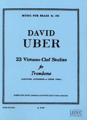 23 Virtuoso Clef Studies David Uber Partition Trombone - laflutedepan