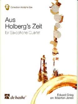 Aus Holberg's Zeit GRIEG Partition Saxophone - laflutedepan