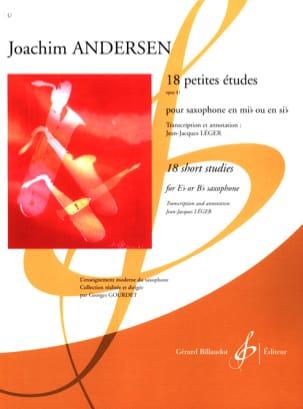 18 Petites Etudes Opus 41 ANDERSEN Partition Saxophone - laflutedepan