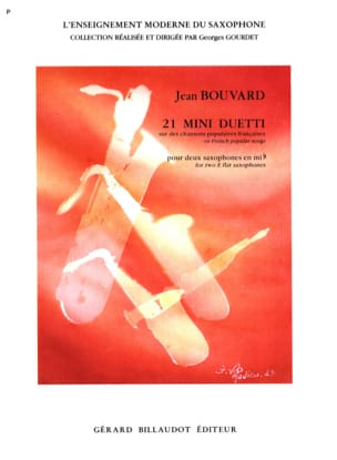 21 Mini Duetti Jean Bouvard Partition Saxophone - laflutedepan