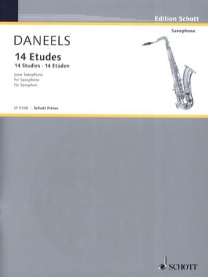 14 Etudes Pour Saxophone François Daneels Partition laflutedepan
