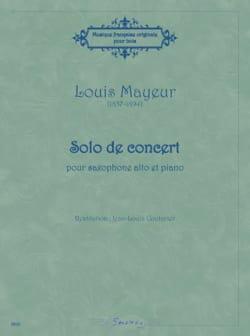Solo de concert Louis Mayeur Partition Saxophone - laflutedepan