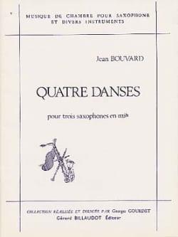Quatre Danses Jean Bouvard Partition Saxophone - laflutedepan