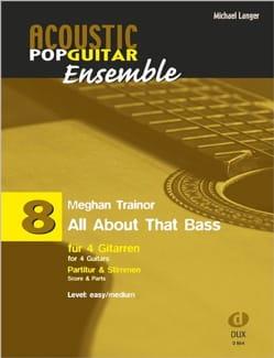 All About That Bass - Acoustic pop guitar ensemble N°8 - laflutedepan.com