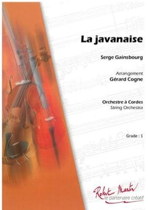 La Javanaise Serge Gainsbourg Partition ENSEMBLES - laflutedepan