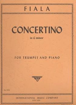 Concertino en Sol mineur Joseph Fiala Partition laflutedepan