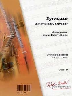 Henri Salvador - Syracuse - Partition - di-arezzo.co.uk
