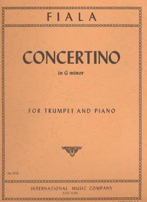 Concertino en Sol mineur - Joseph Fiala - Partition - laflutedepan.com