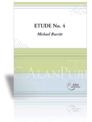 Etude No. 4 - Michael Burrit - Partition - Marimba - laflutedepan.com