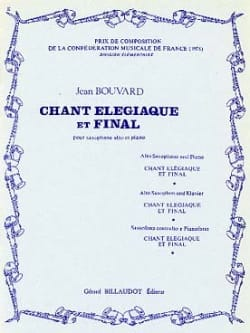 Chant Elégiaque Et Final Jean Bouvard Partition laflutedepan