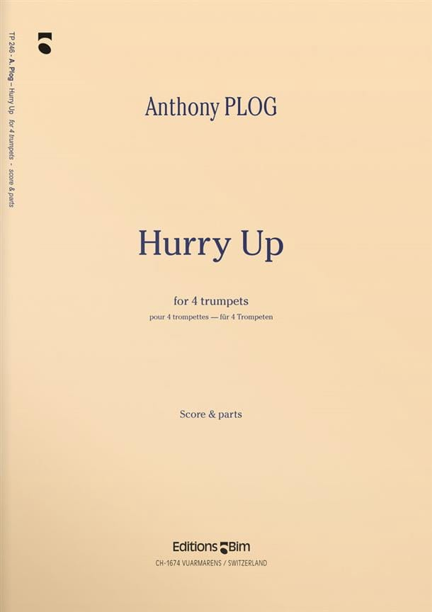 Hurry Up - Anthony Plog - Partition - Trompette - laflutedepan.com