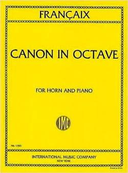 Canon In Octave FRANÇAIX Partition Cor - laflutedepan