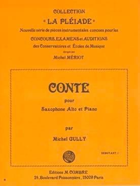 Conte Michel Gully Partition Saxophone - laflutedepan
