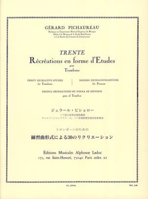 30 Récréations En Forme D' Etudes Gérard Pichaureau laflutedepan