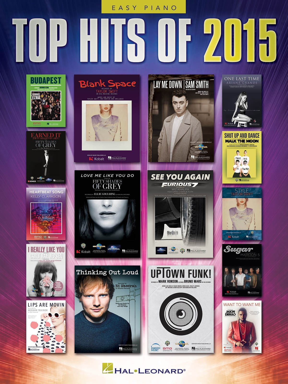 Top Hits of 2015 - Version Piano Facile - laflutedepan.com