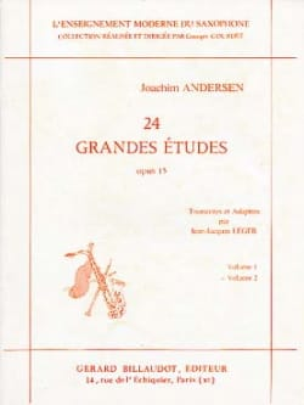 24 Grandes Etudes Opus 15 Volume 2 ANDERSEN Partition laflutedepan