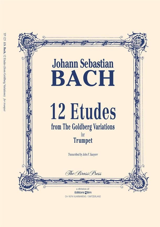 Twelve Etudes - BACH - Partition - Trompette - laflutedepan.com