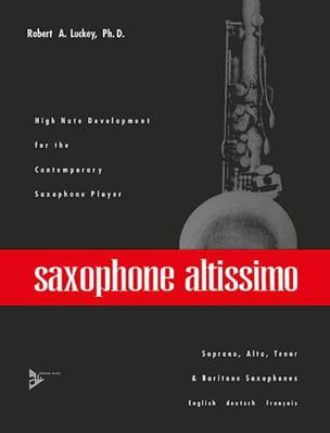 Saxophone Altissimo A Robert Luckey Partition Saxophone - laflutedepan