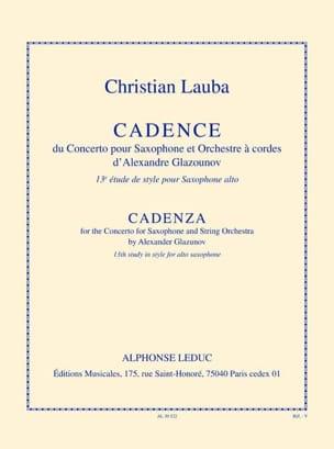 Christian Lauba - 13º Estudio de Estilo - Cadencia - Partition - di-arezzo.es