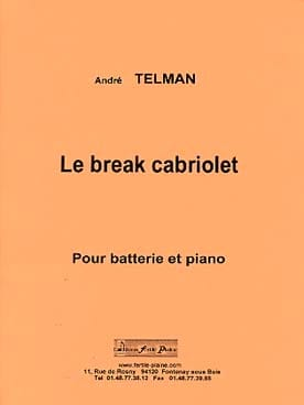 Le break cabriolet André Telman Partition Batterie - laflutedepan