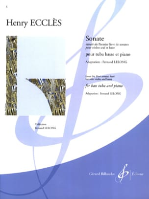 Sonate Henry Ecclès Partition Tuba - laflutedepan