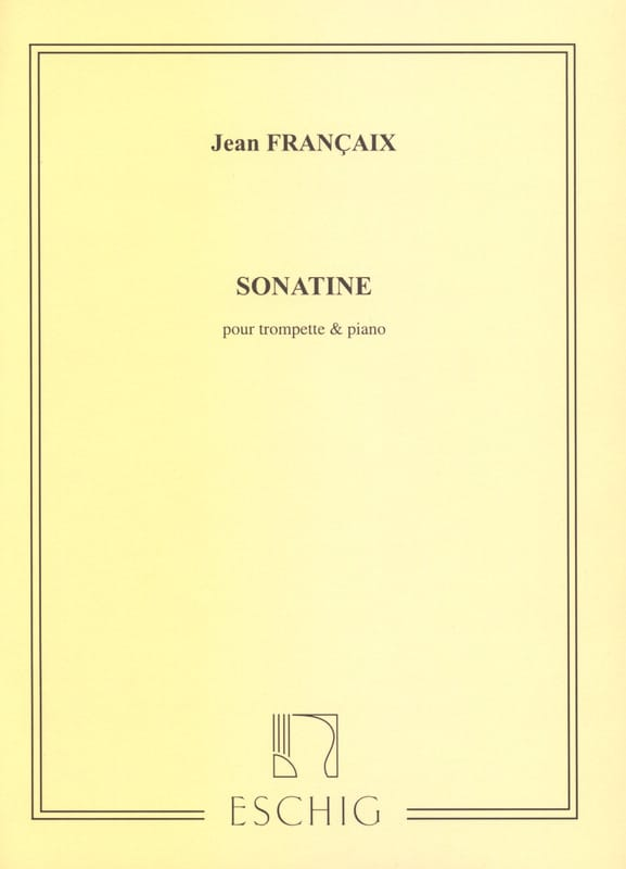 Sonatine - FRANÇAIX - Partition - Trompette - laflutedepan.com