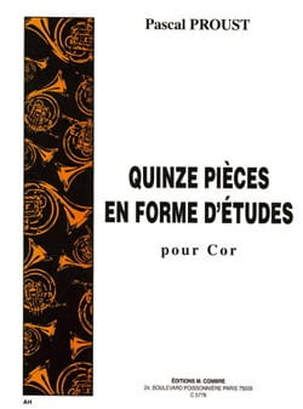 15 pièces en forme d'études Pascal Proust Partition Cor - laflutedepan